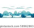 City landscape isolated in white background . 58962863
