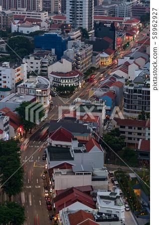 新加坡城市景觀垂直構圖 58962927