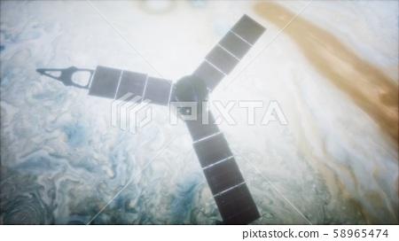 Juno sattelite orbiting Jupiter 58965474