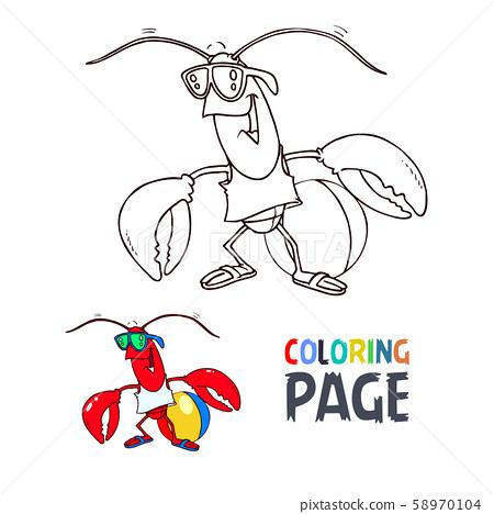 crab cartoon coloring page 58970104