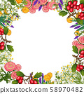 Hand drawn medicinal plant frame. Healing herbs border. isolated on white background 58970482