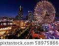 Evening scenery of Yokohama Minato Mirai 58975866
