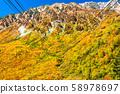 <富山縣>黑部平和立山黑部阿爾卑斯山脈的紅葉 58978697