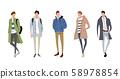 插圖素材:男性,冬季時尚 58978854