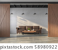 Industrial style living room 3d render 58980922