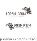 train logo. design concept template 58981323