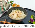 Matsutake mushroom rice 58983596