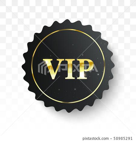 Vip label. Vector black banner 58985291