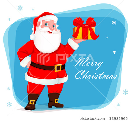 Merry Christmas greeting card with Santa Claus 58985966