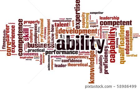 Ability word cloud 58986499