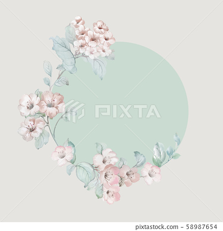 色彩豐富的水彩花卉設計 58987654