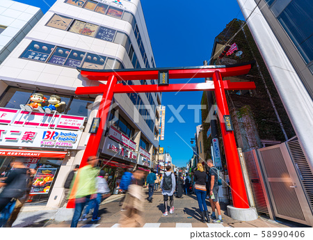 Views of Kamakura cityscape in Japan such as Komachi Street 58990406
