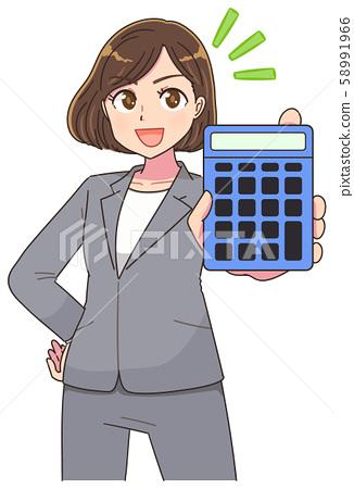 西裝女信用卡動漫 58991966