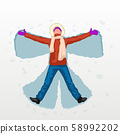 female snow angel 58992202