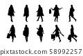 fashion woman silhouette set 58992257
