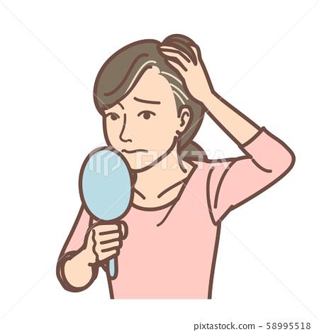 關心白髮的女性 58995518