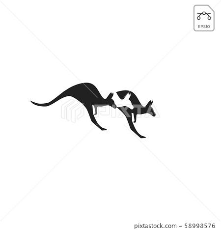 kangaroo logo design vector icon element isolated 58998576