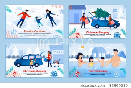 Extreme Family Winter Sport and Rest Banner Set 58999010
