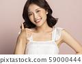 여성 미용 색 배경 59000444