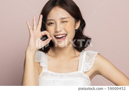 女性美色彩背景 59000452