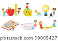 The Little People Living in the World of Big Things Vector Illustrations Set 59005427