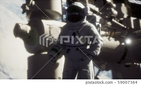 8K Astronaut outside the International Space 59007364
