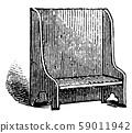 Bench, vintage illustration 59011942