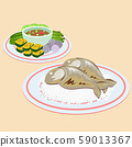 mackerel and stream rice 59013367