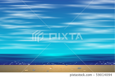 landscape of wave on the beach in day time 59014094