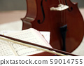 classical music playing with contrabass note book 59014755