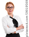 Portrait of a beautiful young businesswoman 59019569