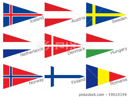 三角旗北歐和東歐 59028199