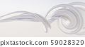 鮮豔細緻的抽象白色曲線紋理背景(高分辨率3D CG渲染∕著色插圖) 59028329