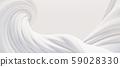 鮮豔細緻的抽象白色曲線紋理背景(高分辨率3D CG渲染∕著色插圖) 59028330