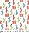 X-Mas and New Year Background Christmas Stockings 59034294