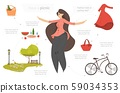 Happy Woman Go on Picnic Set for Creation Picture 59034353