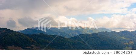 wonderful mountainous panorama in autumn 59034857