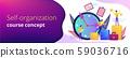 Self management concept banner header. 59036716