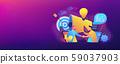 Collaboration concept banner header. 59037903