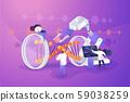 Genetic engineering concept vector illustration 59038259