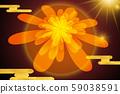 新年のグリーティングカード、菊、日本、真っ赤な太陽、新年賀卡,菊花, 日本, 紅太陽,japan, 59038591