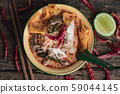 Spicy Small Noodles with Crispy and Pork  Thai 59044145