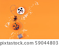 Halloween decorated homemade ginger cookies 59044803
