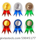 Set of gold, silver and bronze award 59045177