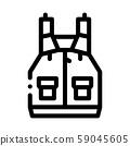 Life Jacket Canoeing Icon Vector Illustration 59045605