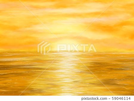 Golden sunset illustration 59046114