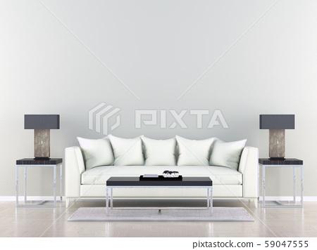 White sofa in a empty 59047555