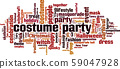 Costume party word cloud 59047928