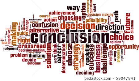 Conclusion word cloud 59047941