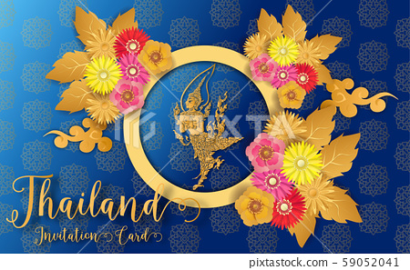 Thailand ancient Luxury concept .Thai traditional style.vector illustration for Travel in Thailand.poster,greeting card, party invitation,banner,brochure,other use 59052041